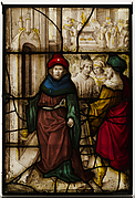 Glass Panel with Profanation of Jerusalem and the Sacred Rites of The Temple