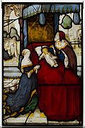 Glass Panel of Elijah and the Widow's Son
