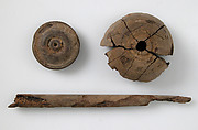 Wood, Whorl, Lid and Stick