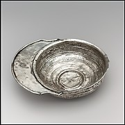 Silver Drinking Bowl with Handle