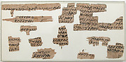 Papyri Fragments of a Letter from Bartholomew to Elisasius