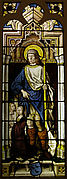 Stained Glass Panel with Saint Roch, the van Merle Family Arms and a Donor