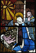 Stained Glass Panel with the Nativity