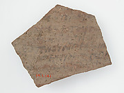 Ostrakon with a Letter from Christodorus (?) to Psan