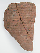 Ostrakon with a Letter to Elias