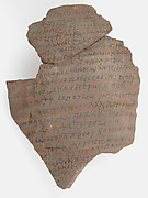 Ostrakon with a Letter from Papnoute and Epiphanius to Cyriacus