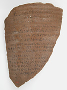 Ostrakon with a Letter from Strategius to Cyriacus
