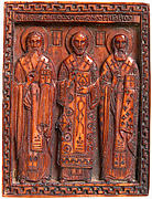 Icon with Three Church Fathers
