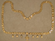 Gold Necklace with Cross