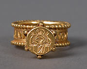 Gold Signet Ring with Virgin and Child