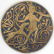 Medallion with Varlet with Horn and Hound