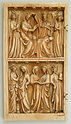 Leaf from a Diptych with the Coronation, Annunciation, and Visitation