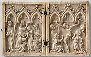 Diptych with the Adoration of the Magi and the Crucifixion