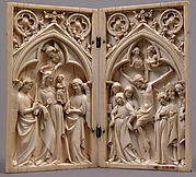 Diptych with the Crucifixion and the Coronation of the Virgin