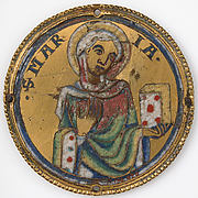 Roundel with the Virgin