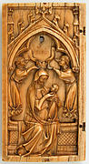 Leaf from a Diptych with the Virgin and Child and Angels