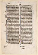 Manuscript Leaf from a Bible