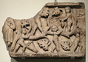 Fragment of a Sarcophagus with Putti in a Grapevine