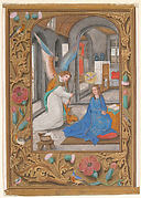 Manuscript Leaf with the Annunciation, from a Book of Hours