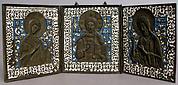 Triptych with Christ, Virgin, St. John The Baptist