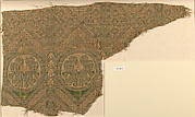 Textile with Beast and Geometric Designs