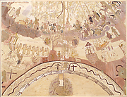 Facsimiles of the Dome Painting of the Chapel of Exodus, Bagawat Necropolis, Kharga Oasis