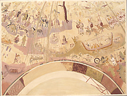 Facsimile of the Dome Painting of the Chapel of Exodus, Bagawat Necropolis, Kharga Oasis