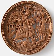 Medallion, St. George Slaying The Dragon