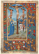 Manuscript Leaf with the Crucifixion, from a Book of Hours
