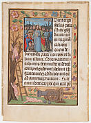 Manuscript Leaf with the Betrayal, from a Book of Hours