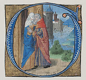 Manuscript Illumination with Joachim and Anna in an Initial G with Joachim and Anna, from a Missal