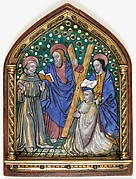 Plaque with Saints and Donor