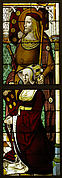 Stained Glass Panel with a Lady and her Patron Saint