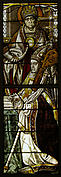 Stained Glass Panel with a Bishop and his Patron Saint
