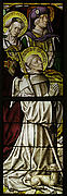 Stained Glass Panel with St. Bernard