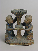 Candlestick Held by Two Angels