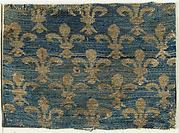 Textile with Fleur-De-Lis Motif