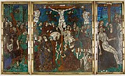 Triptych with The Way to Calvary, Crucifixion, and Descent from the Cross