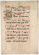Bifolium with Foliated Initial C, from a Gradual