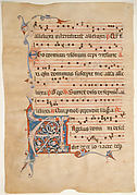 Manuscript Leaf with Foliated Initial A, from an Antiphonary