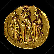 Solidus of Heraclius, Heraclius Constantine, and Heraclonas
