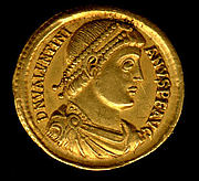 Gold Solidus of Valentinian I (364–75)