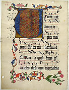 Manuscript Leaf with the Initial V, from an Antiphonary