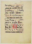Manuscript Leaf with Initial M, from an Antiphonary
