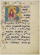 Manuscript Leaf with Initial R, from a Gradual