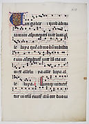 Manuscript Leaf with Initial V, from a Gradual
