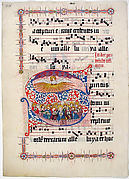 Manuscript Leaf with Initial S, from a Gradual