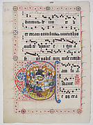 Manuscript Leaf with Initial C, from a Gradual