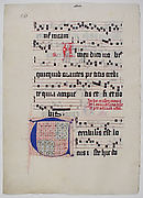 Manuscript Leaf with Initial T, from a Gradual