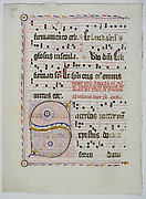 Manuscript Leaf with Initial S, from an Antiphonary